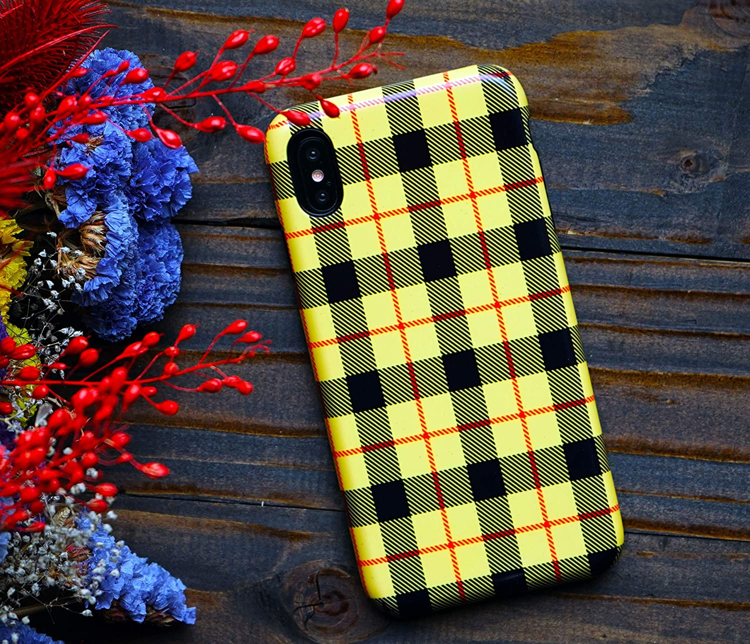 check out 6add2 c5c06 Yellow Plaid iPhone XR Xs Max Case iPhone Case Compatible with ...