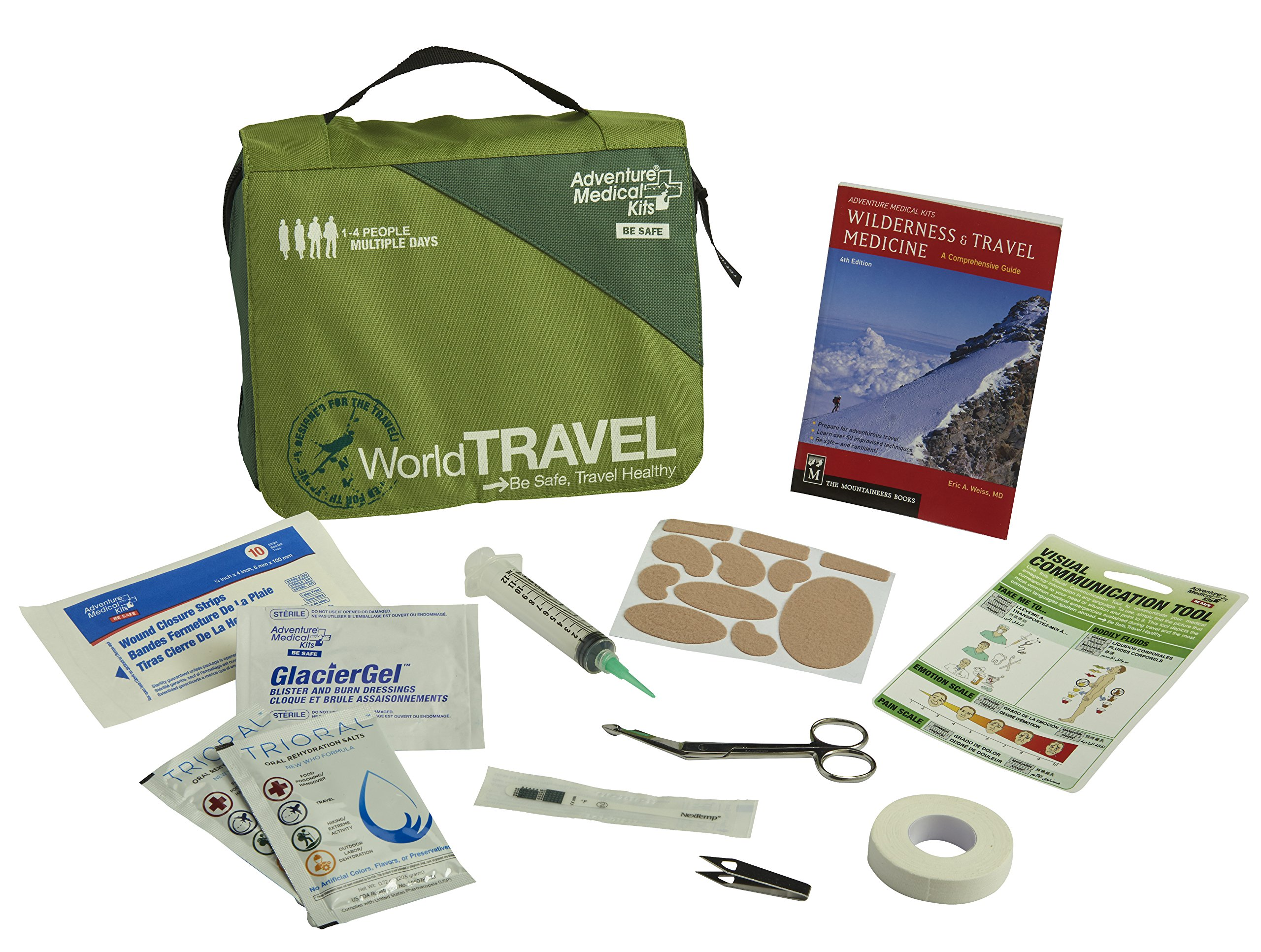 Adventure Medical Kits World Travel First Aid Kit, Adventure Air Travel, Third World Protection, Comprehensive Guide, Visual Communication Tool, 311 Travel Bag, Easy Care, Durable Case, 1lb 8oz