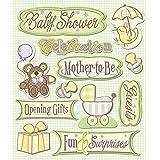 K&Company Baby Shower Sticker Medley, 12-pieces