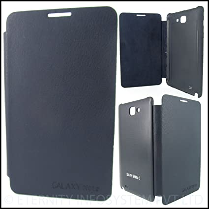 new arrivals 844f0 4afc3 Samsung Galaxy Note 1 N7000 Pebble Blue Leather Flip Back Cover Case