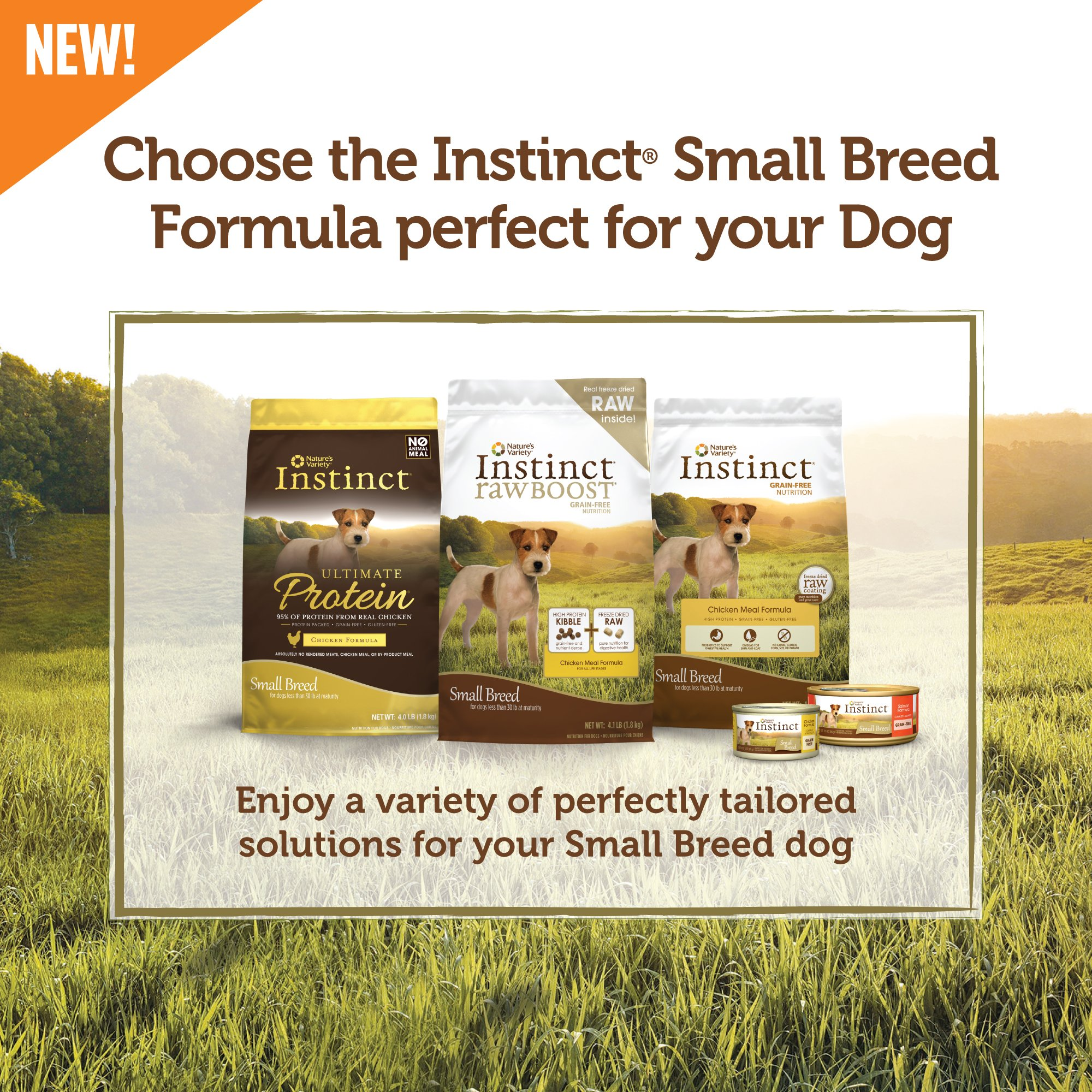 Instinct Original Small Breed Grain Free Chicken Meal Formula Natural Dry Dog Food by Nature's Variety, 4.4 lb. Bag by Nature's Variety (Image #5)