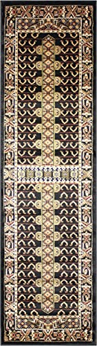 KILIM Boho Bohemian Black Bokara Vintage Style K601 Area Rug Clearance Soft and Durable Pile. Size Option , 2 X7 HALLWAY RUNNER