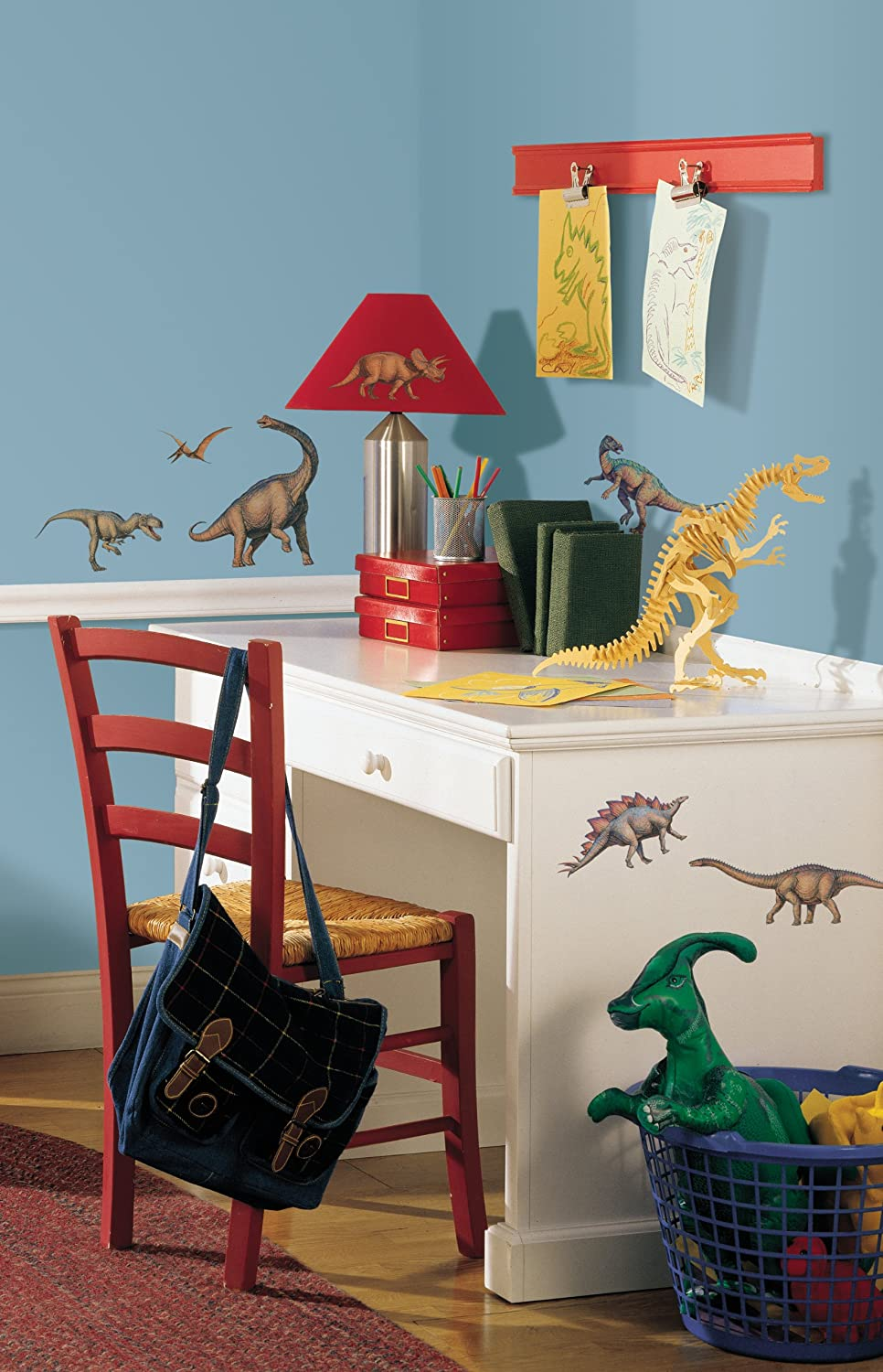RoomMates RMK1043SCS Dinosaurs Peel U0026 Stick Wall Decals, 16 Count   Wall  Decor Stickers   Amazon.com
