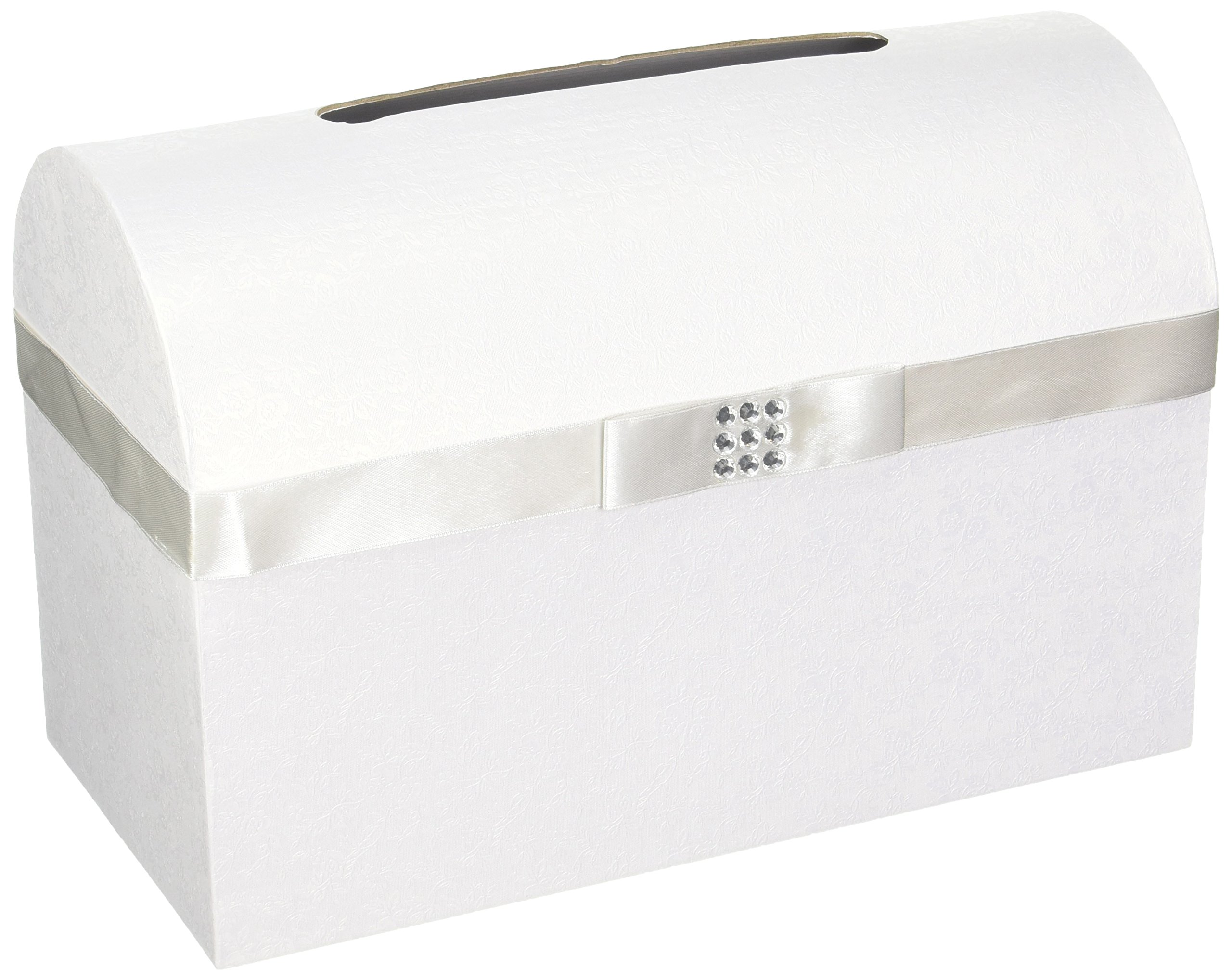Fun Express Silver Bow Wedding Card Box