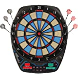 OLI Electronic Dart Board with 12 Soft Tip Darts, LED Scoring Display Dartboard Set for Adults, 100 Spare Tips & Power Adapte