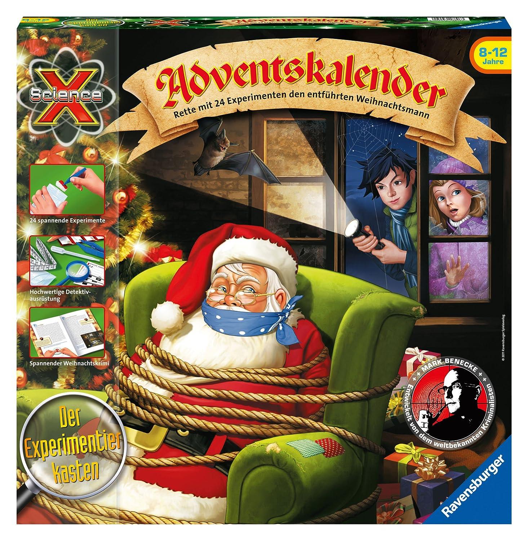 Ravensburger 18896 - ScienceX Adventskalender - Rette mit 24 Experimenten den entführten Weihnachtsmann Experimentierkästen