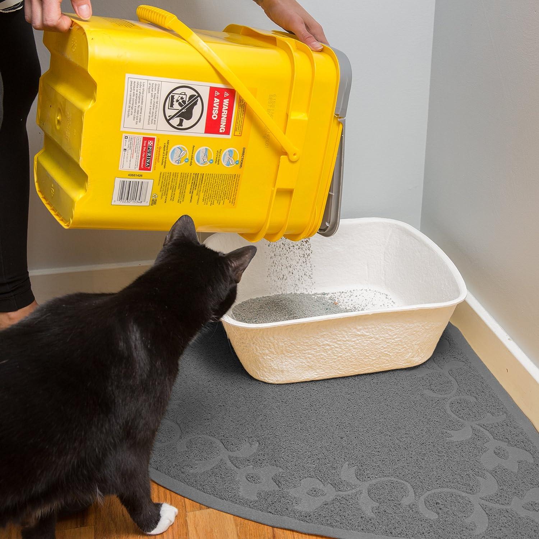 Amazon.com: Corner Cat Litter Mat (Light Gray) - XL Size - 23 x 23 - Fits Regular And Corner Litter Boxes: Pet Supplies