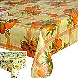 Nappe toile cirée PVC Rectangulaire 140 x 240 cm Orange