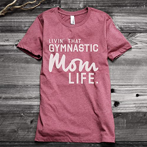 f58b9fc85 Image Unavailable. Image not available for. Color: Thread Tank Livin' That  Gymnastic Mom Life Women's Fashion Relaxed T-Shirt Tee Heather
