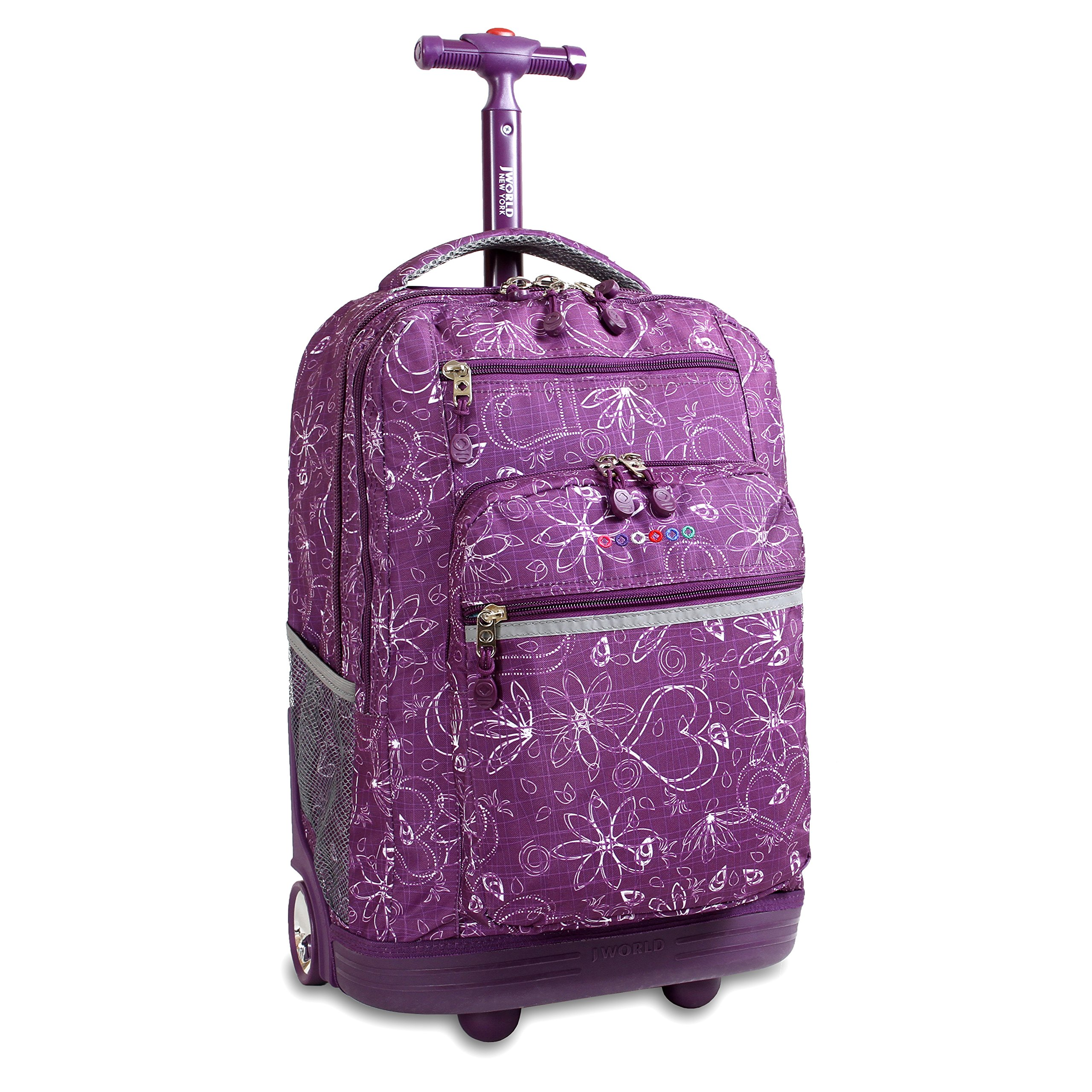J World New York Sundance Rolling Backpack, Love Purple, One Size