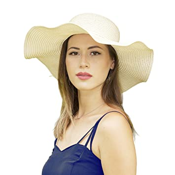 e6808855f90 2NFashion Sun Beach Straw Wave Hat UPF 50 Protection Anti-UV Protection Hats  For Women