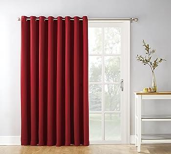 Sun Zero Easton Extra-Wide Blackout Sliding Patio Door Curtain Panel