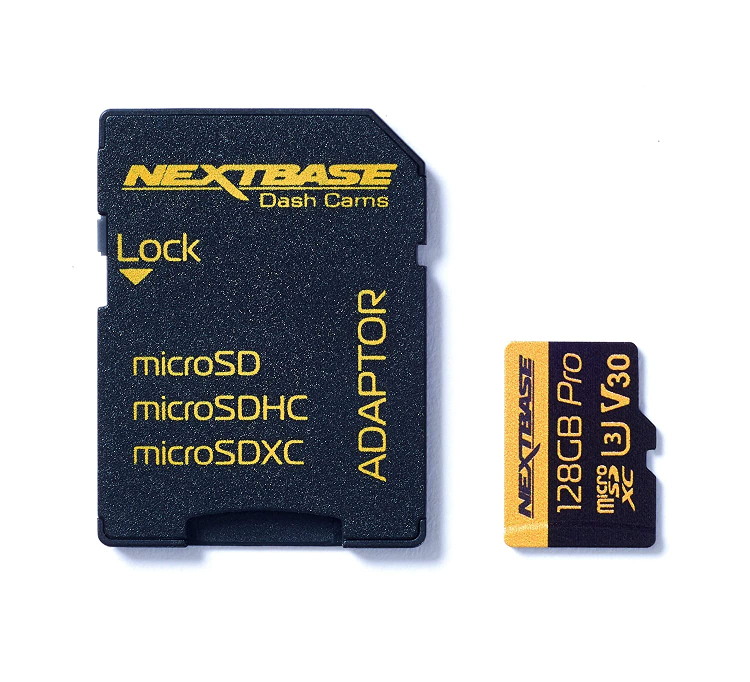 With Adapter Nextbase 64GB U3 Micro SD Memory Card Compatible with Nextbase In-Car Dash Cams Series 1 and 2