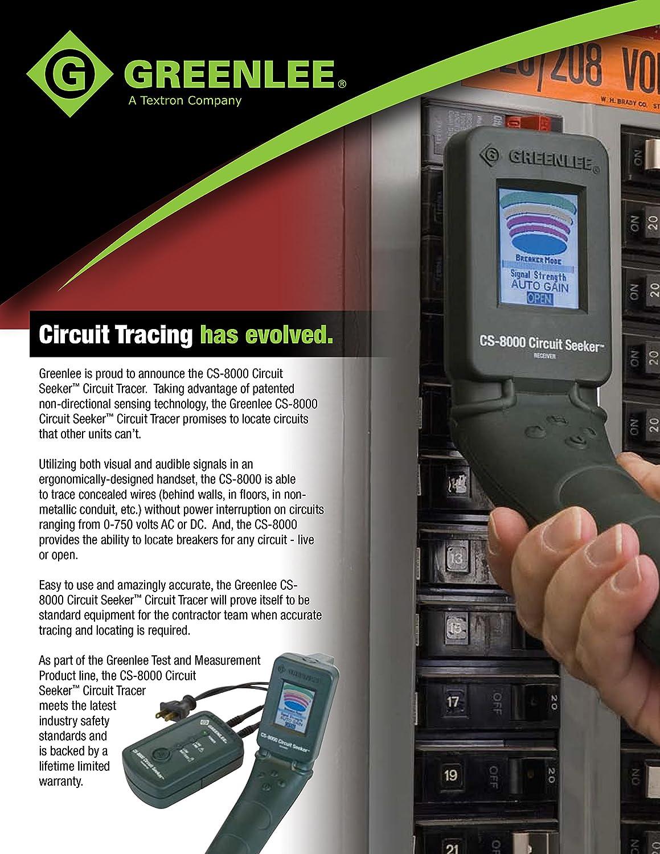 Greenlee Cs 8000 Circuit Seeker Tracer Testers Breaker Finder Locator Accessory Sperry Instruments