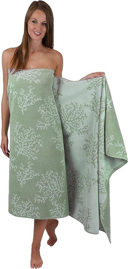 BETZ Asciugamano da Bagno in Spugna XL Brazil Telo da Mare Telo Mare 100/% Cotone Biologico Dimensioni 100x200 cm Colore Verde