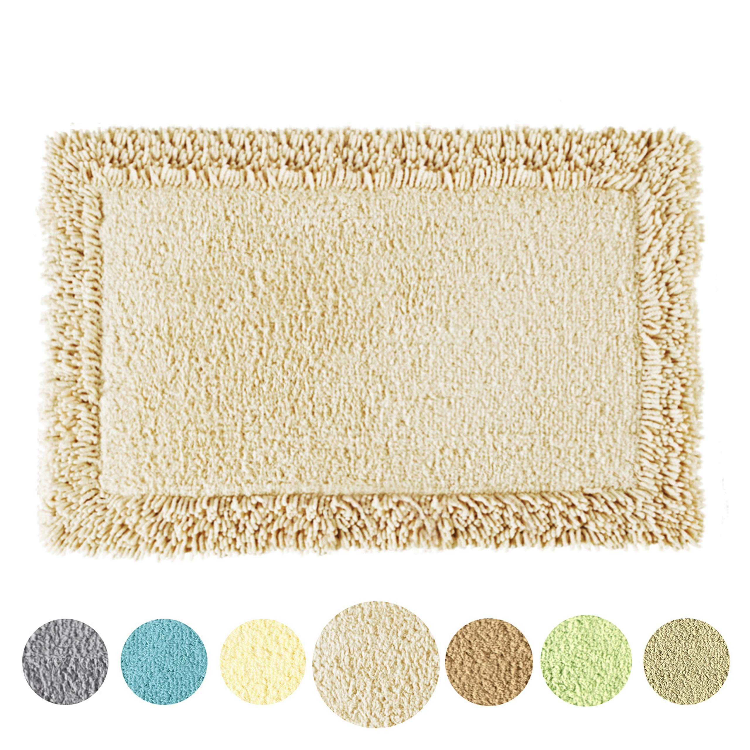 TOMORO Non-Slip Bathroom Rug Super Absorbent Soft Cotton - Luxury Hotel Linens Non-Skid Door and Bath Mat with Non-Slip Rug Pad