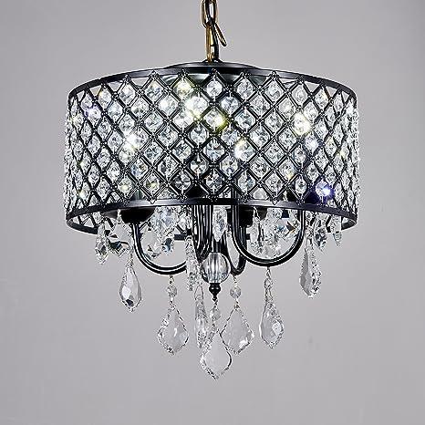 paris lighting crystal chandelier light fixture black color 4