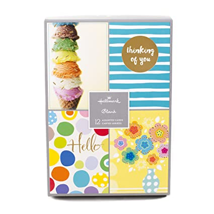 Amazon Assorted Blank Greeting Cards Hallmark Fun Designs