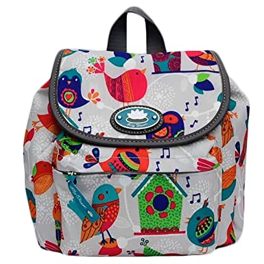411a20c5f2c Amazon.com | Lily Bloom Feather Weather Mini Backpack Birds Pattern ...
