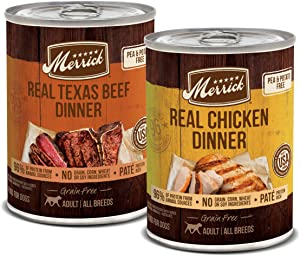 Merrick Grain Free Wet Dog Food Real Texas Beef & Chicken Dinner Variety Pack - (12) 12.7 oz. Cans