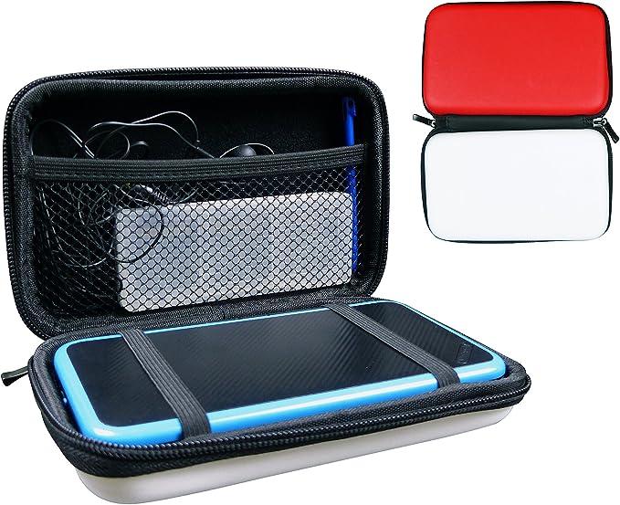 Subsonic - Estuche de Protección Dura para la Consola y Accesorios, Color Rojo y Blanco (Nintendo 2Ds): Amazon.es: Videojuegos