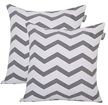 Amazon.com: Accent Home 100% cojín de algodón, Chevron ...
