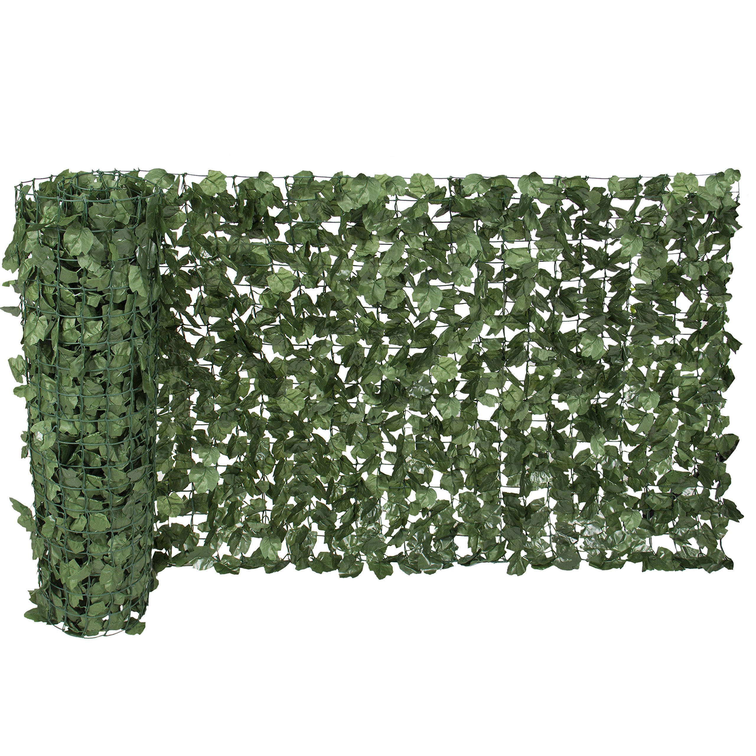 Ecover Artificial Laurel Leave Fence, Wall Decoration, Indoor/Outdoor,39''x118''