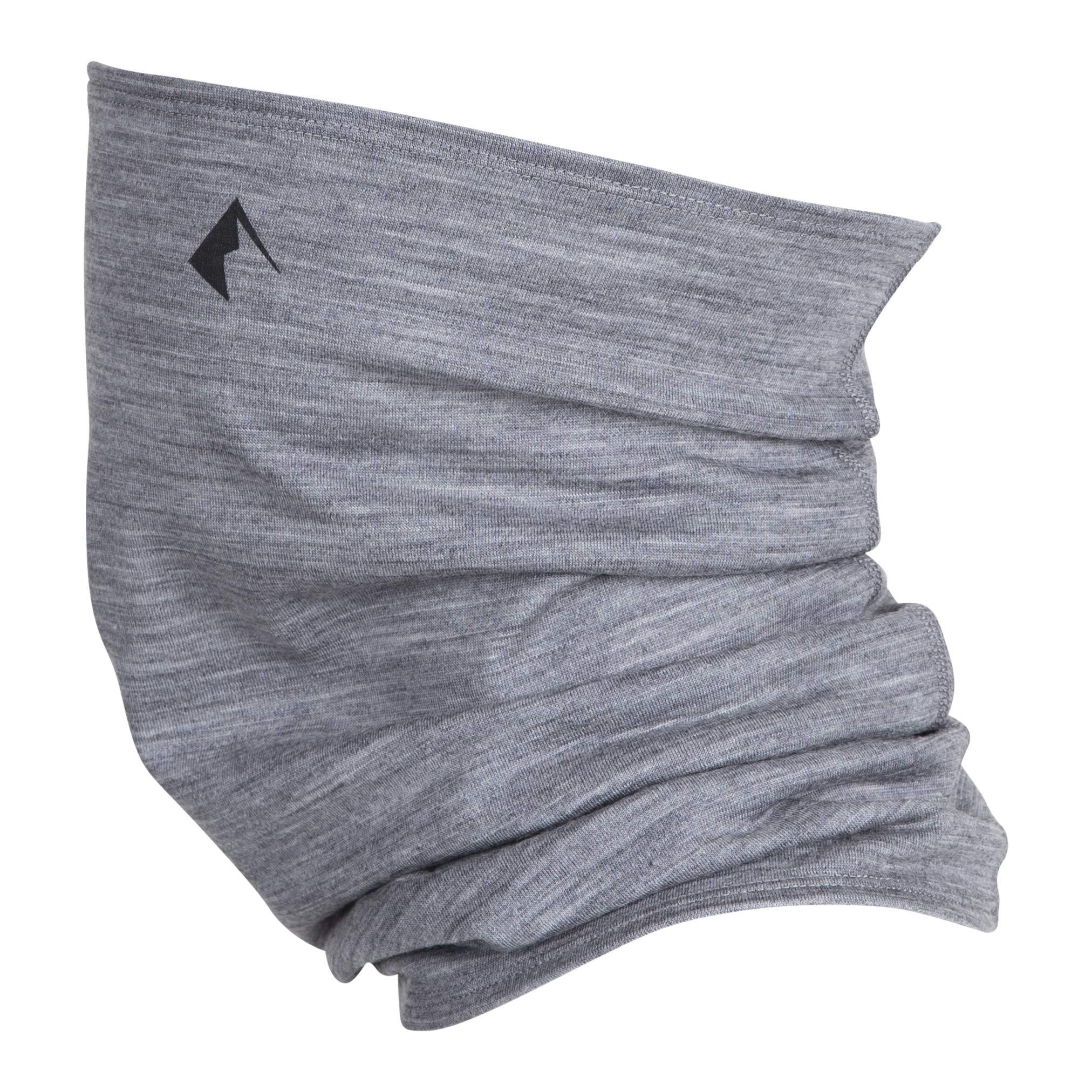 Ridge Merino Wool Neck Gaiter (Heather Grey, One size) by Ridge Merino (Image #1)