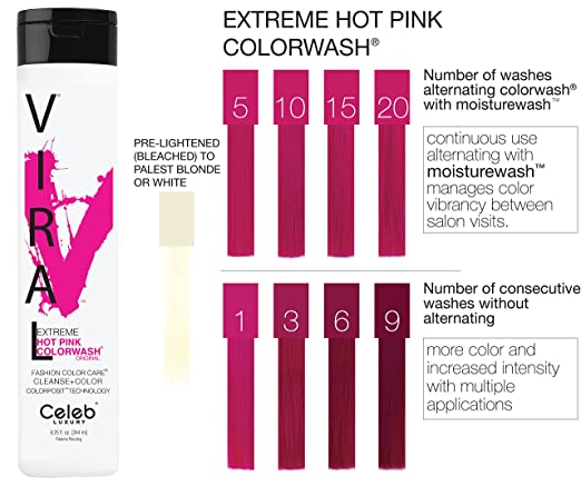 Extreme hot pink color wash