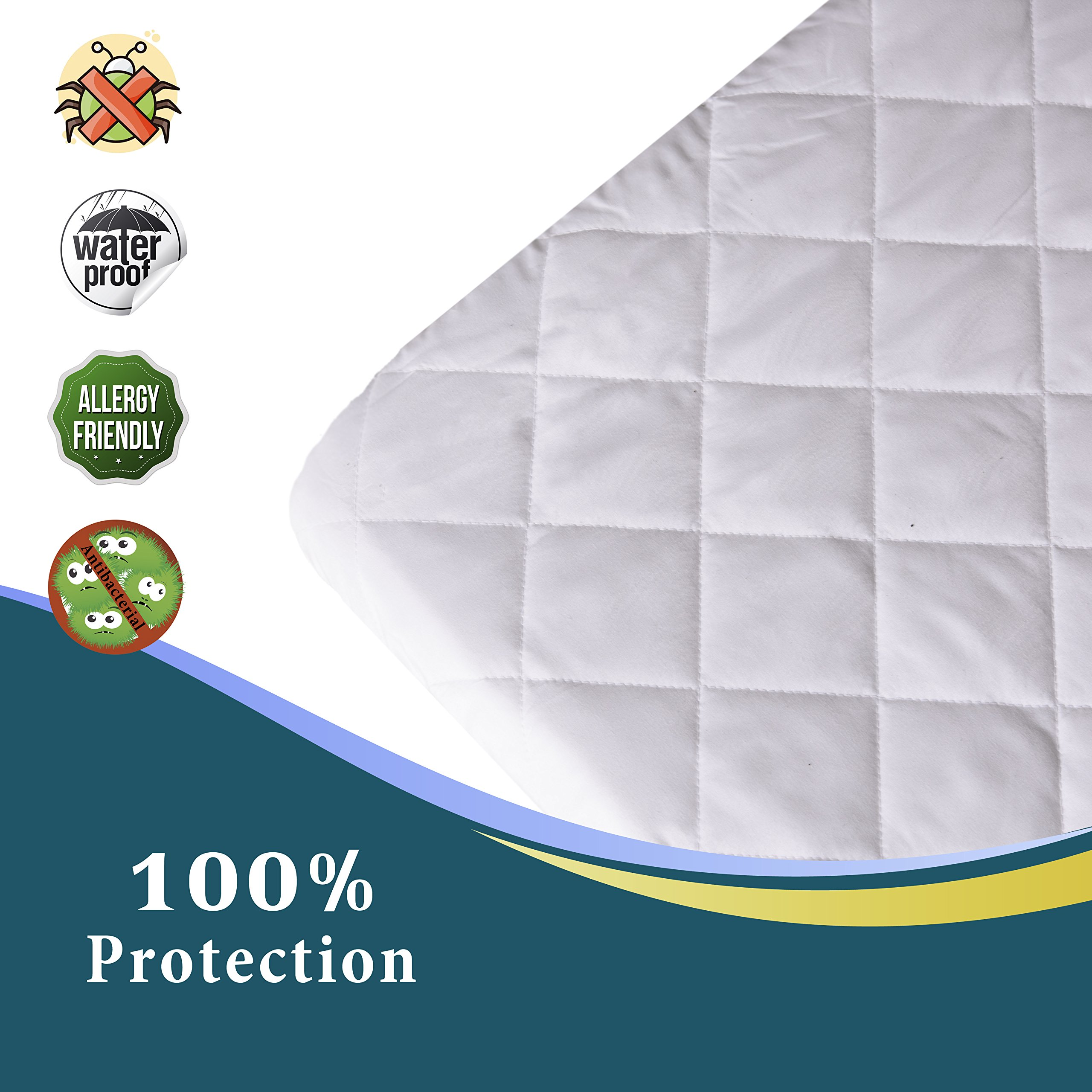 crib mattress pad cover for baby pack n play fits all portable cribs mini 696576776731 ebay. Black Bedroom Furniture Sets. Home Design Ideas