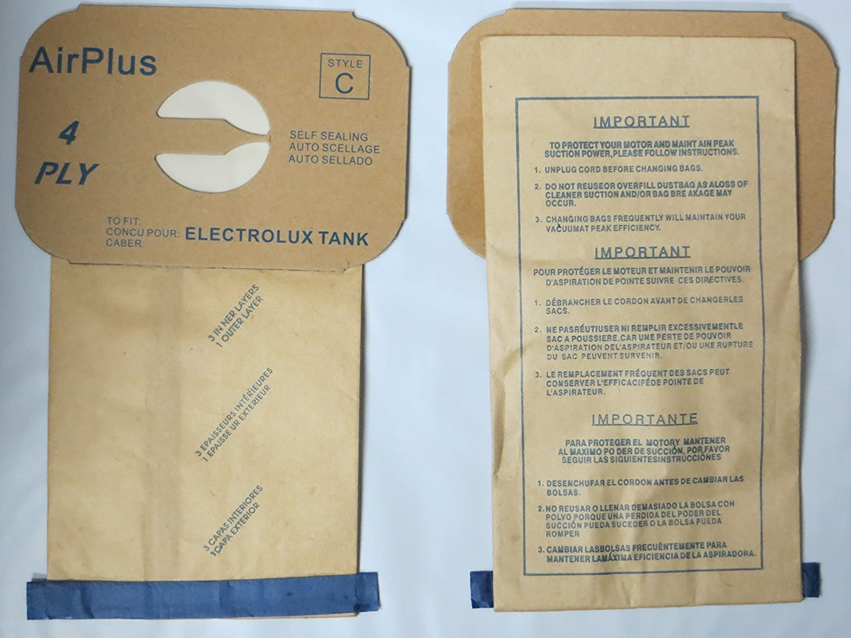 48 Electrolux Type C Tank Model Vacuum Cleaner Bags 4 Ply