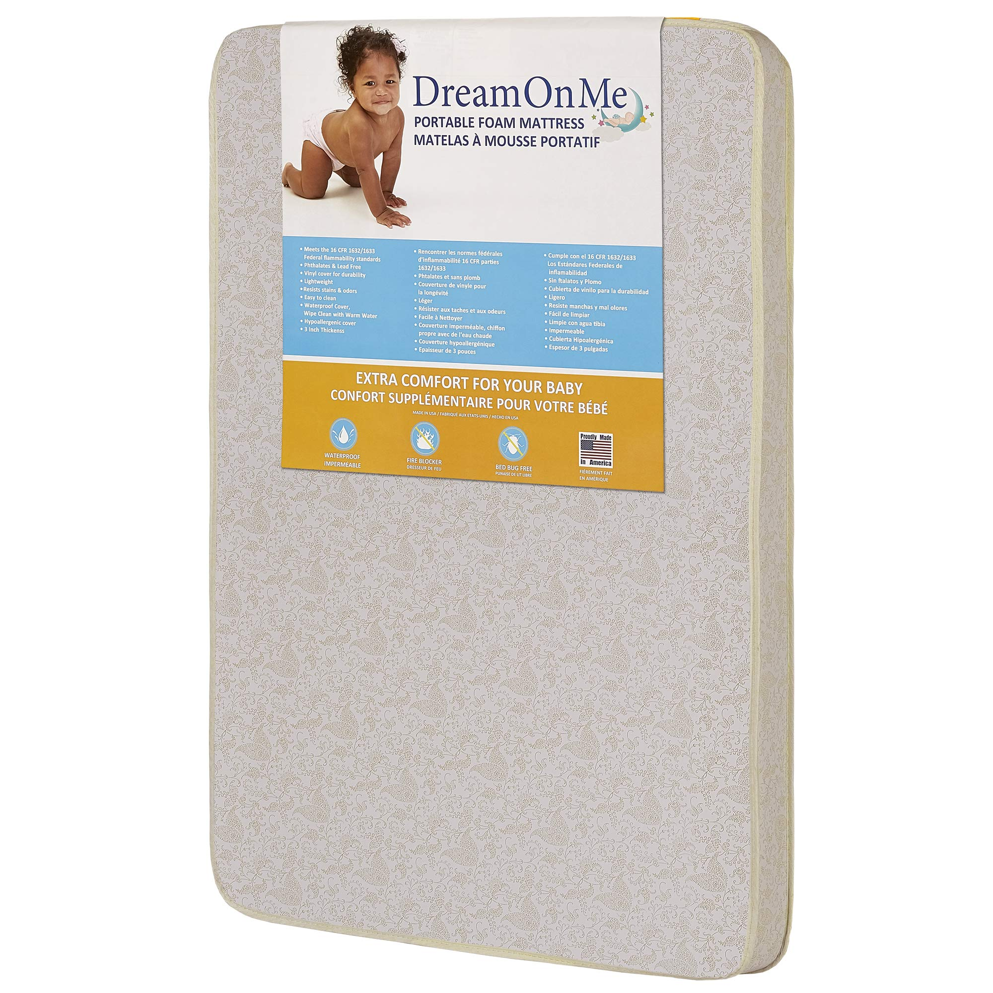 Dream On Me Foam Pack and Play Mattress by Dream On Me
