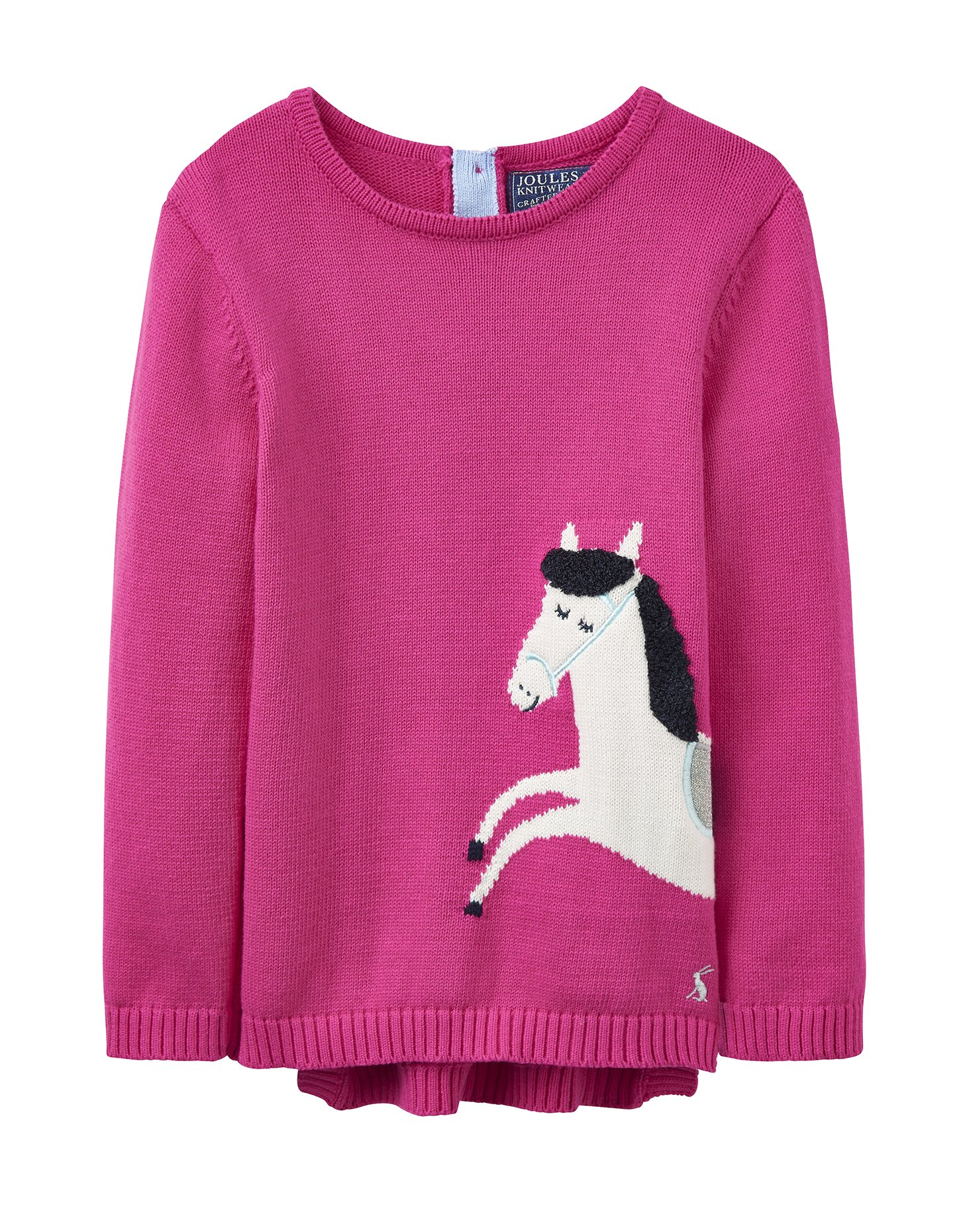 Joules Junior Intarsia Jumper - True Pink Horse - 12-18 Months - 86 cm by Joules