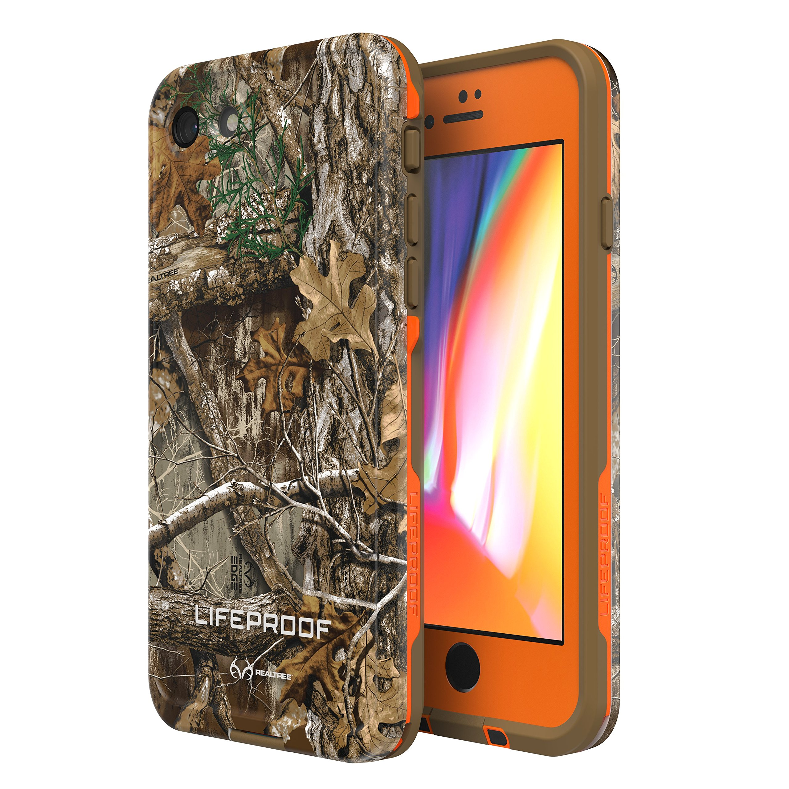 Lifeproof FRĒ SERIES Waterproof Case for iPhone 8 & 7 (ONLY) - Retail Packaging - (BLAZE ORANGE/DARK FLAT EARTH/RT EDGE) by LifeProof