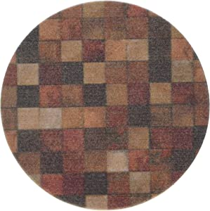 Thirstystone 'Contemporary Mosaic' Sandstone Drink Coaster Set with a Walnut Holder Included