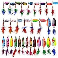Zite Fishing Spin Jig Set Spinner-Bait Barsch-Köder  5 STK Spinner 6-17g in Box
