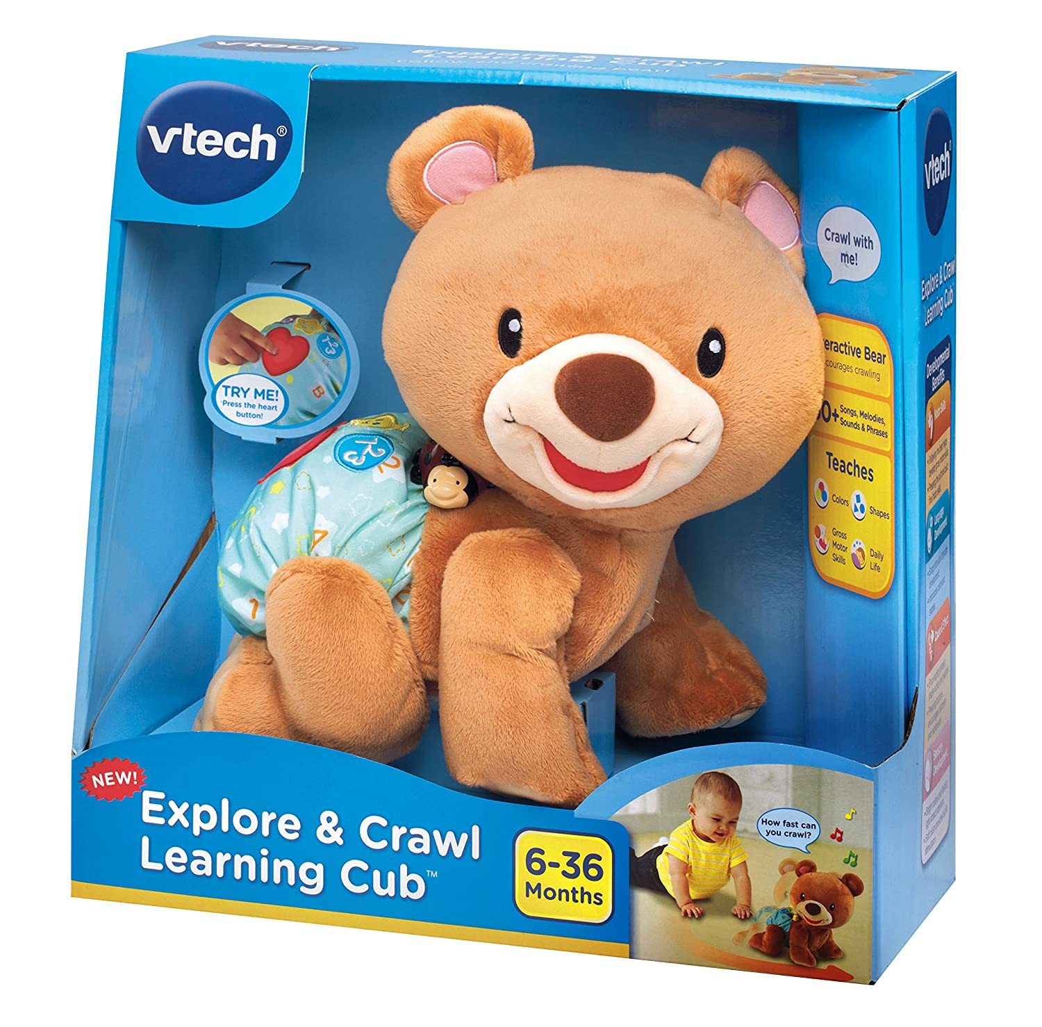 Amazon VTech Explore and Crawl Learning Cub Toys & Games