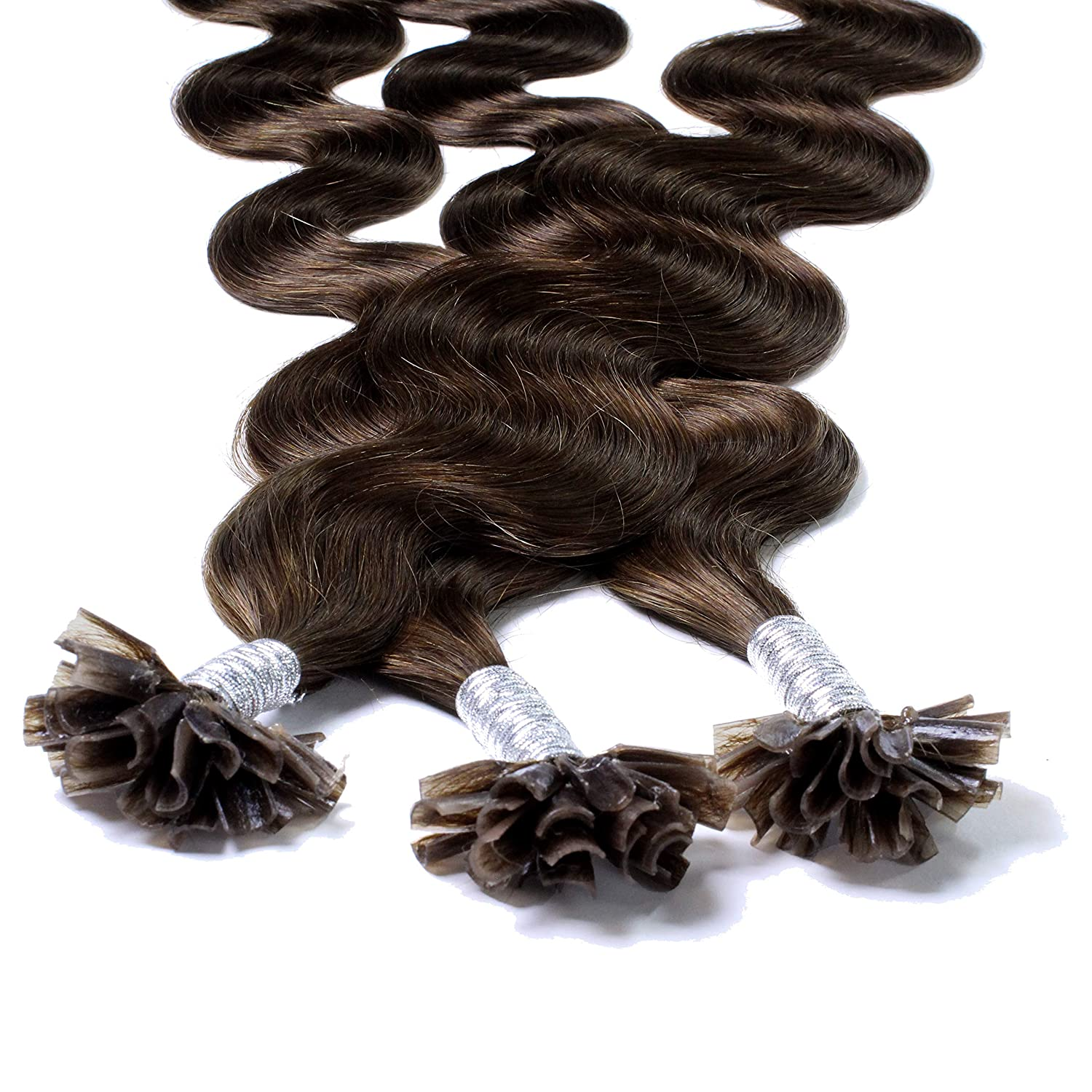 Hair2Heart Real Human Hair Extensions Hot Tip P Opening large release Gifts sale with Nail Fusion
