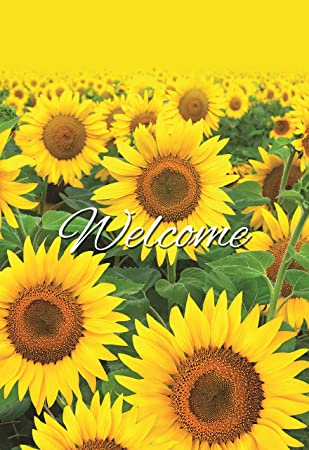 Decorative Sunflower Garden Flag Colorful Spring Summer Blooms Welcome  Double Sided 12.5u0027u0027 X 18