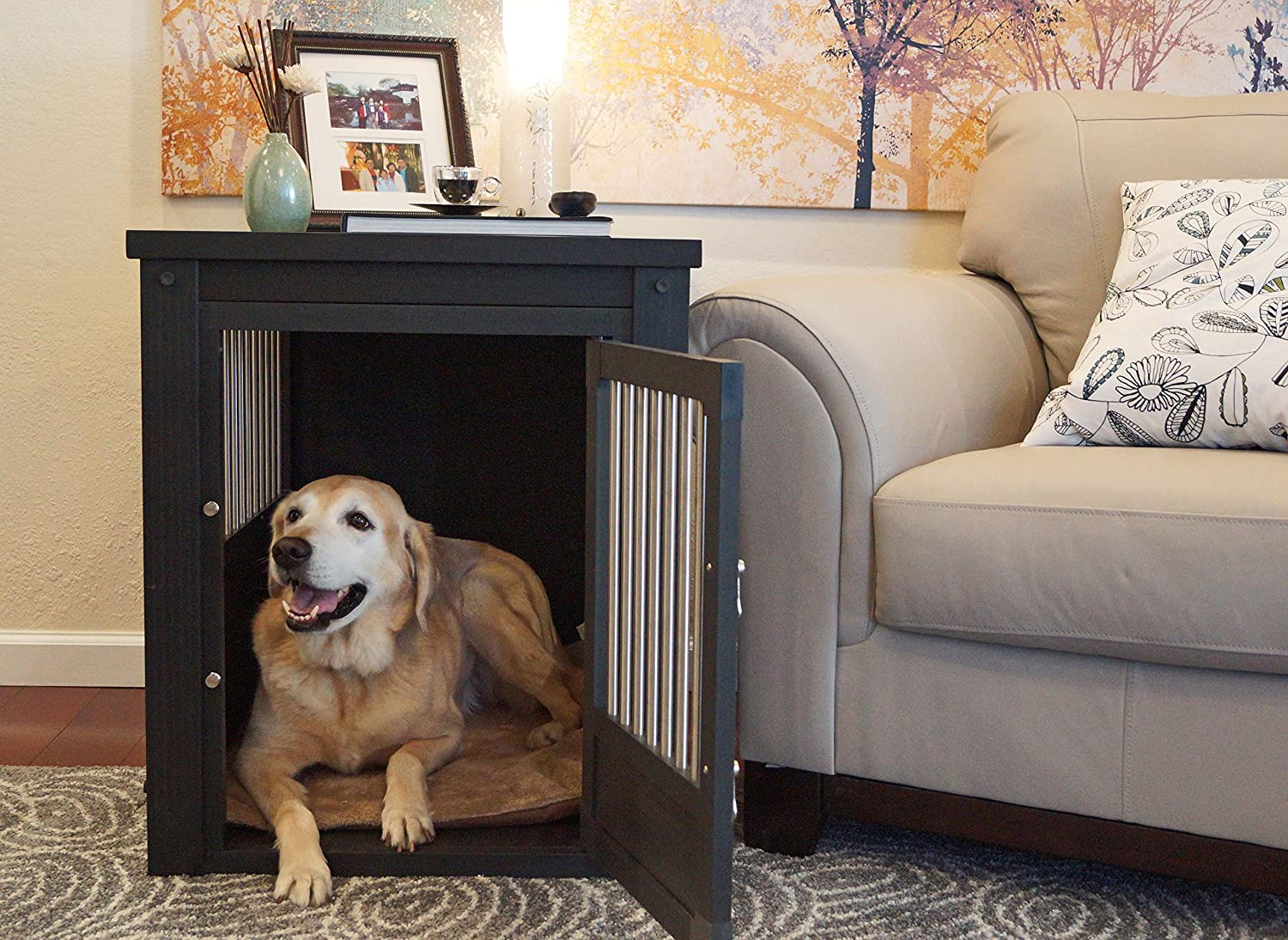 Dog Crate Side Table