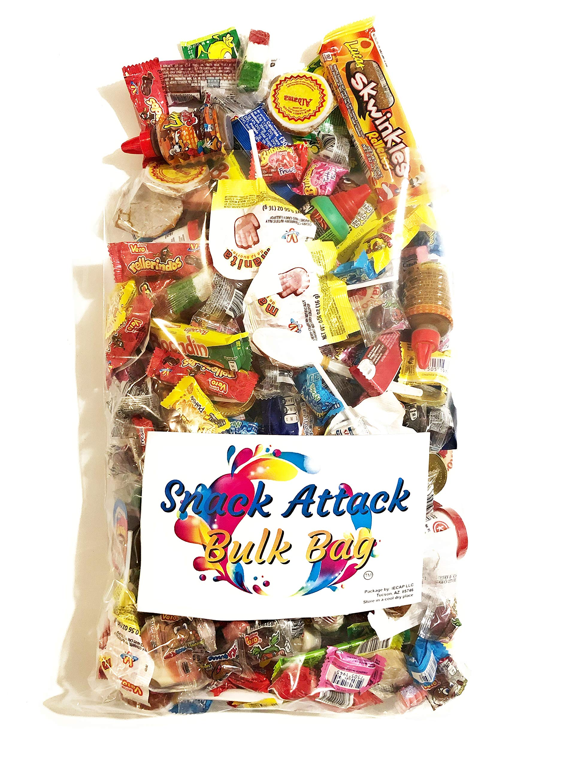 Mexican Candy Assortment Pinata Party Mix, 5 LB Bulk Bag: Mazapan, Lucas Candy, Pelon Pelo Rico, Pulparindo's, Rockaleta, Rebanaditas, Vero Lollipops & Rellerindos, Oblea, Bubulubu and Much More!