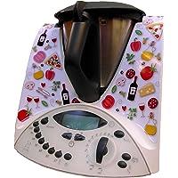 Pegatina Sticker Adhesivo de Vinilo para Thermomix TM31 - Colección gastronómica - Patrón 1 - Italia