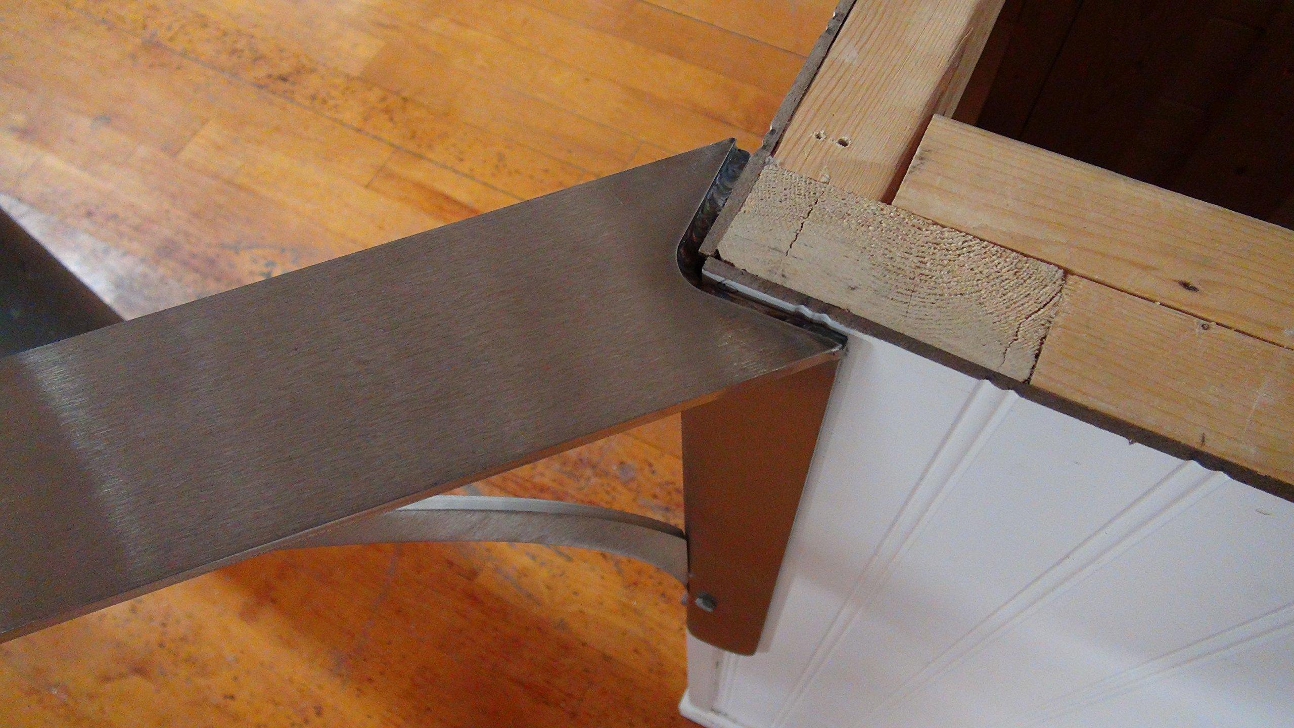 Ashbury Low Profile Corner Bracket - Federal Brace - Made in America (18'', Stainless Steel)