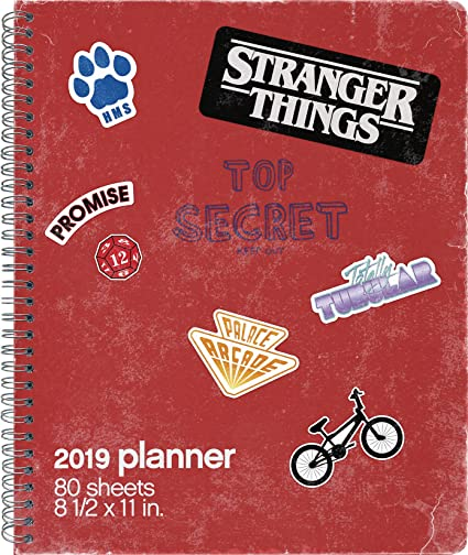2019 Stranger Things Weekly/Monthly Planner - 8.5 x 11