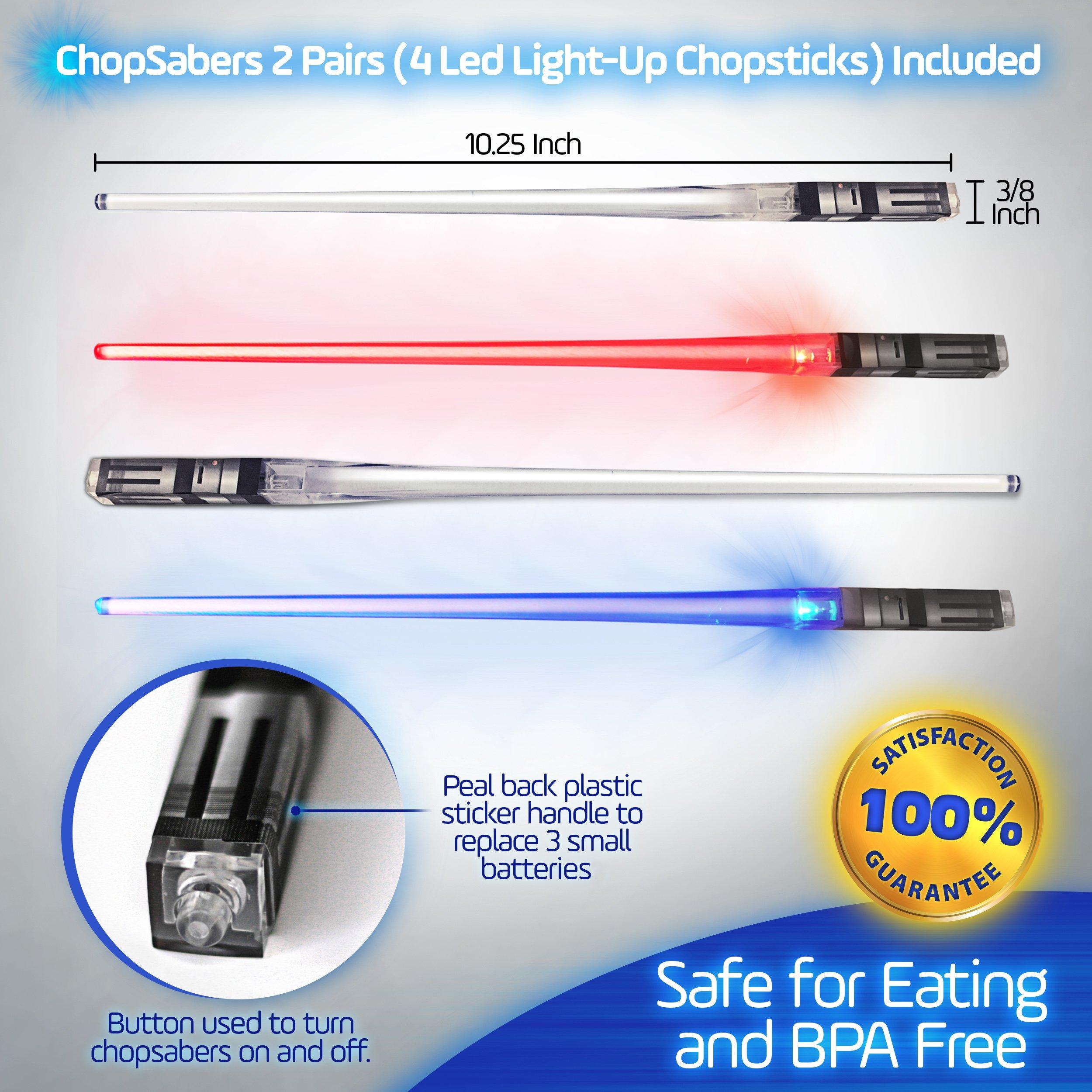 Sabers Chop Lightsaber Led Light Up Chopsticks 2 Pair Red Blue by Chopsabers (Image #5)