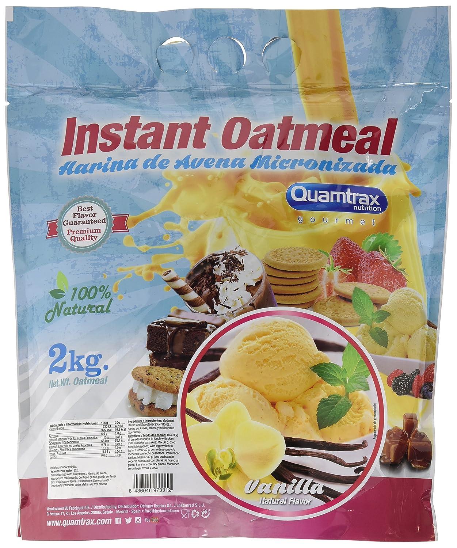 Quamtrax Nutrition Vainilla Avena Instantánea - 2000 gr: Amazon.es: Salud y cuidado personal