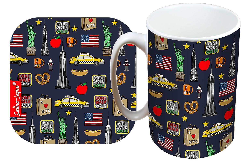 Selina-Jayne New York City Limited Edition Designer Mug and Coaster Gift Set Selina-Jayne Designs
