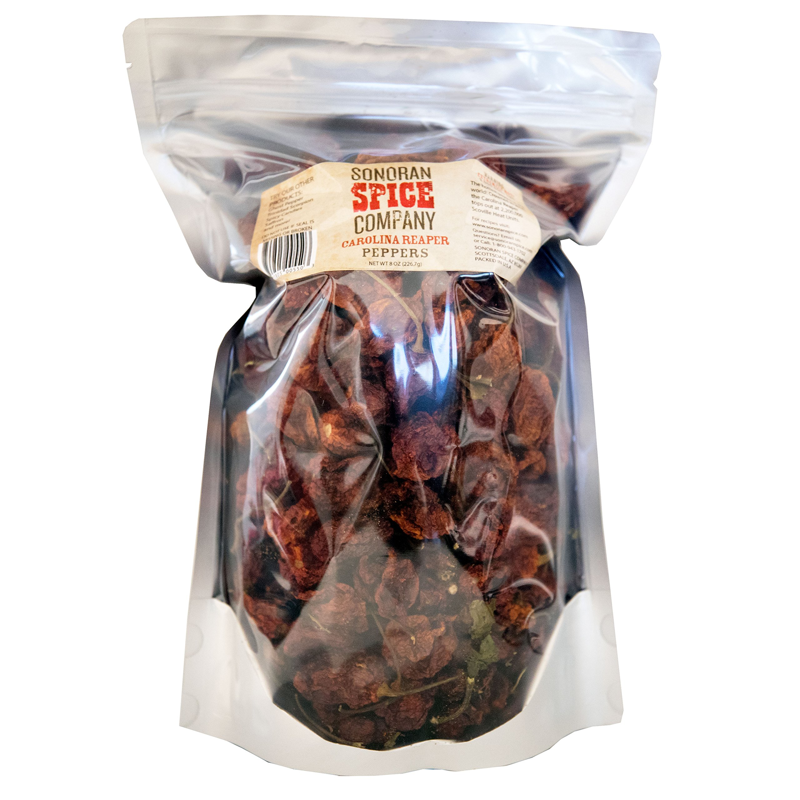 Carolina Reaper Peppers - Oven Dried (8 Oz)