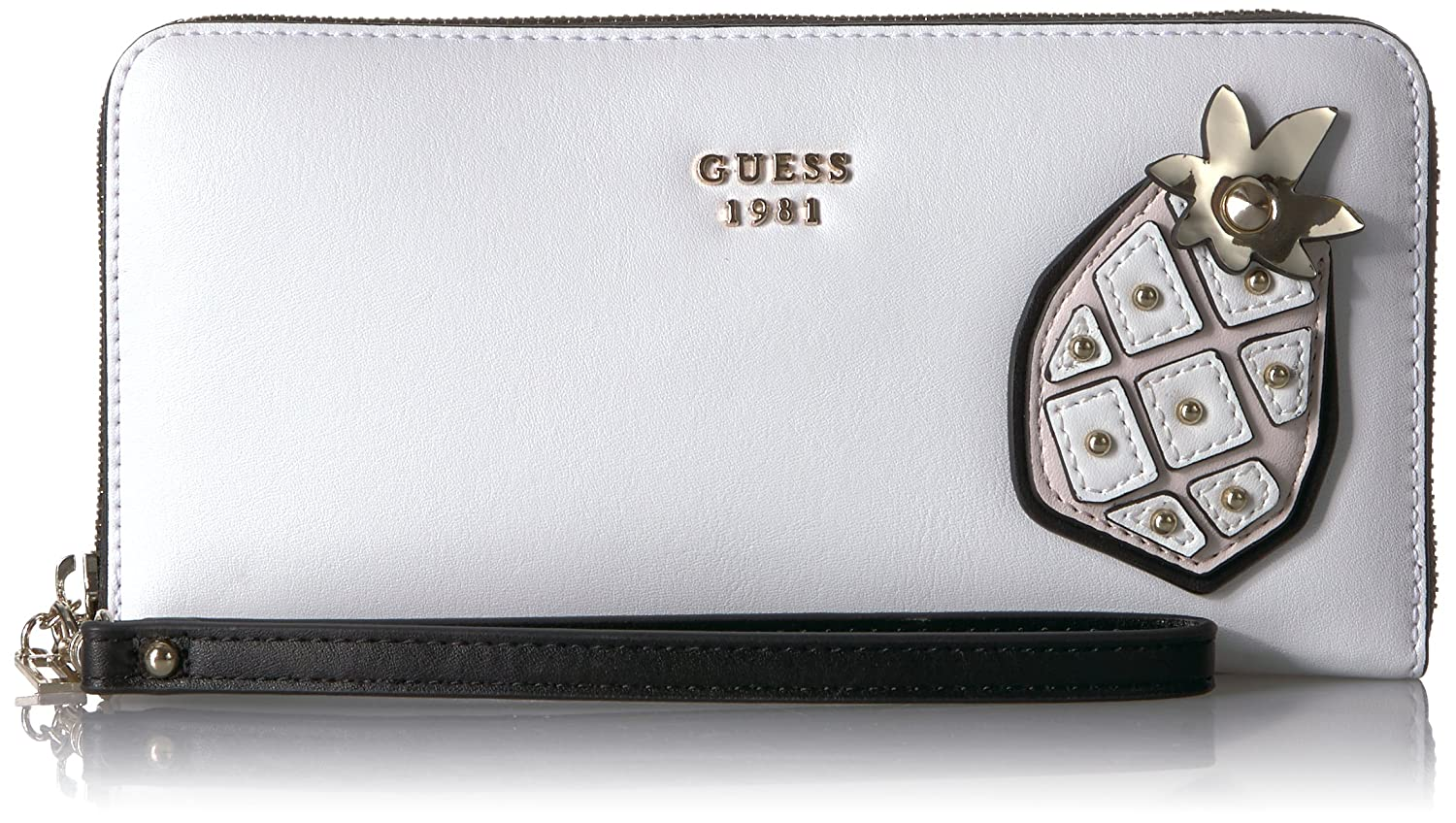 GUESS Fruit Punch Pineapple Large Zip Around Shell VP696046