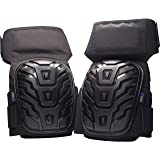 Professional Work Knee Pads with Comfortable Gel Cushion and Padded Heavy Duty Foam, Adjustable Neoprene Velcro Straps best for Construction, Flooring, Tile and Concrete